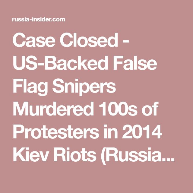 Case Closed - US-Backed False Flag Snipers Murdered 100s of Protesters in 2014 Kiev Riots (Russian TV News)