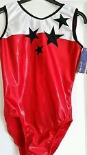 "NEW Superstar Red Leotard size 32"" by Zodiac Leos"