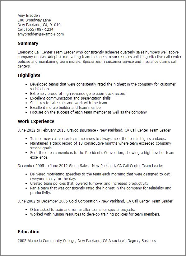 Best Management Team Lead Cover Letter Examples LiveCareer. Sales ...