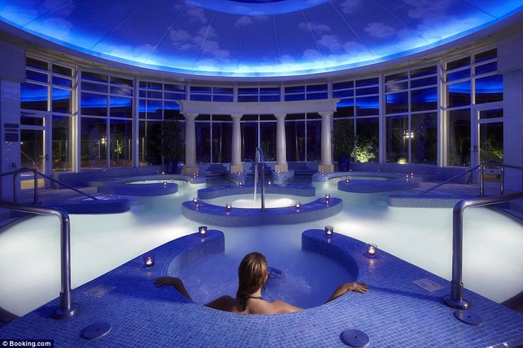 This glorious Chewton Glen country house hotel offers an award-winning restaurant, 130 acres of land to explore and a sumptuous spa (pictured)