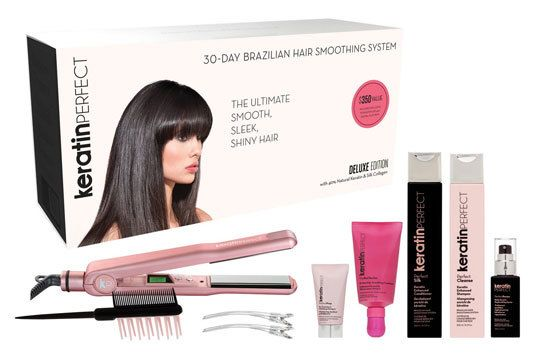 KeratinPerfect 30-day Brazilian Hair Smoothing System From Sephora (via BeautyEditor.ca)
