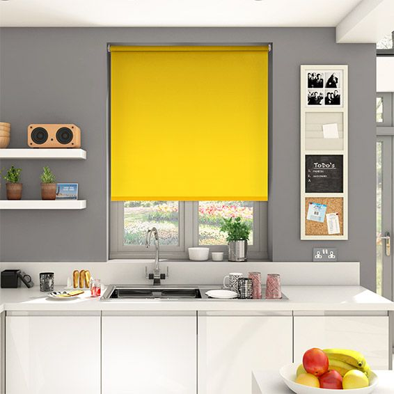 This bright yellow Sevilla Daffodil roller blind is full of the joys of summer and will keep your home feeling wonderfully vibrant all year round.