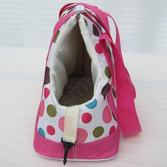 Pink Dot Pet Travel Carrier Dog Tote Bag Doggy Handbag ...