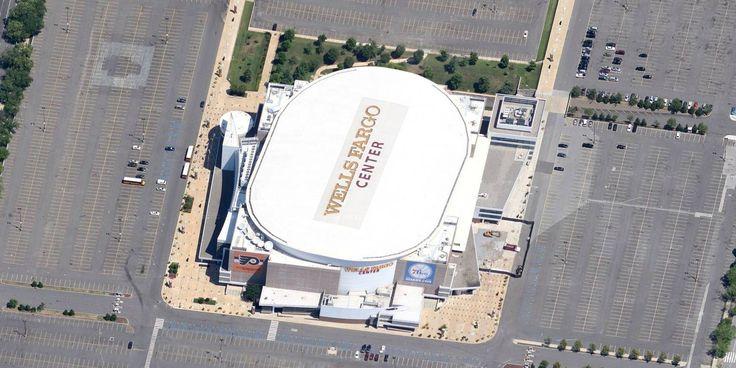 Wells Fargo Center - Philadelphia 76ers - Aerial Views of NBA Arenas