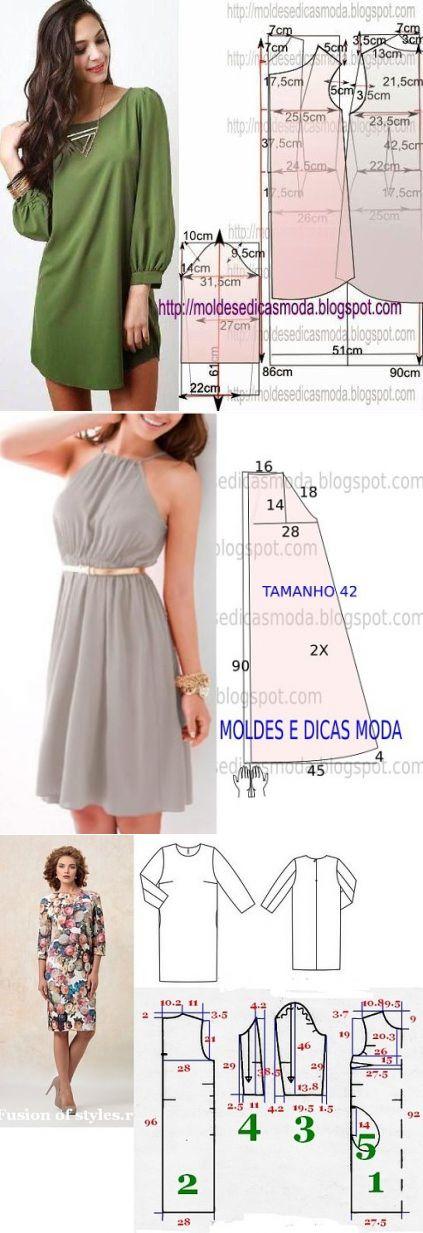 Простые выкройки летних платьев 8