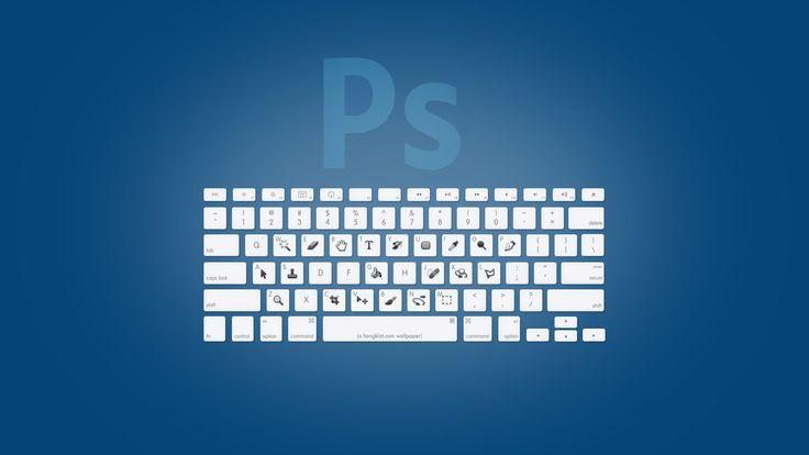 Adobe CSのショートカットwallpaper。しかし2モニターでないと利用が難しいな。