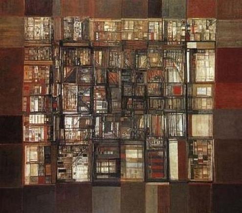 Biblioteca em fogo - Helena Vieira da Silva (1974)