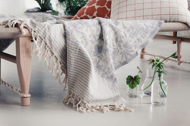 Blanket/Table cloth Lit de la Fleur via Emma von Brömssen. Click on the image to see more!
