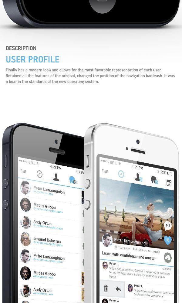 Instagram. Redesign App on App Design Served