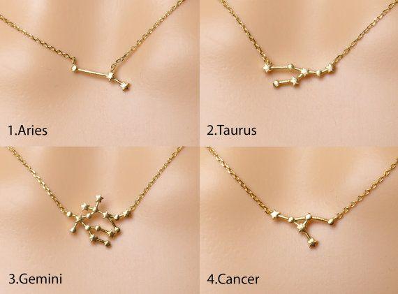 Zodiac Necklace,Constellation necklace,Zodiac jewelry,Gift idea, Valentines gift,zodiac jewelry
