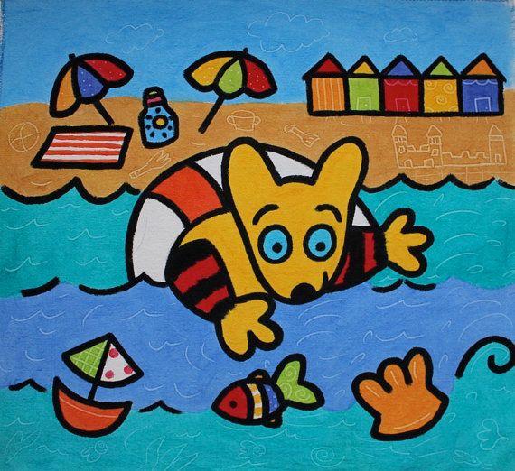 Maki at the beach by Zanimo on Etsy, $15.00