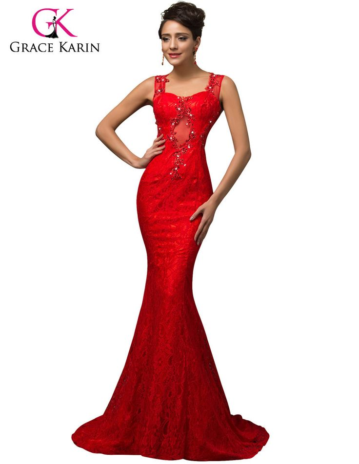 Новый элегантный длинные красные кружева русалка вечернее платье 2015 ГК длина пола hollow передняя Спагетти Ремень поезд сексуальная бальные платья 07585