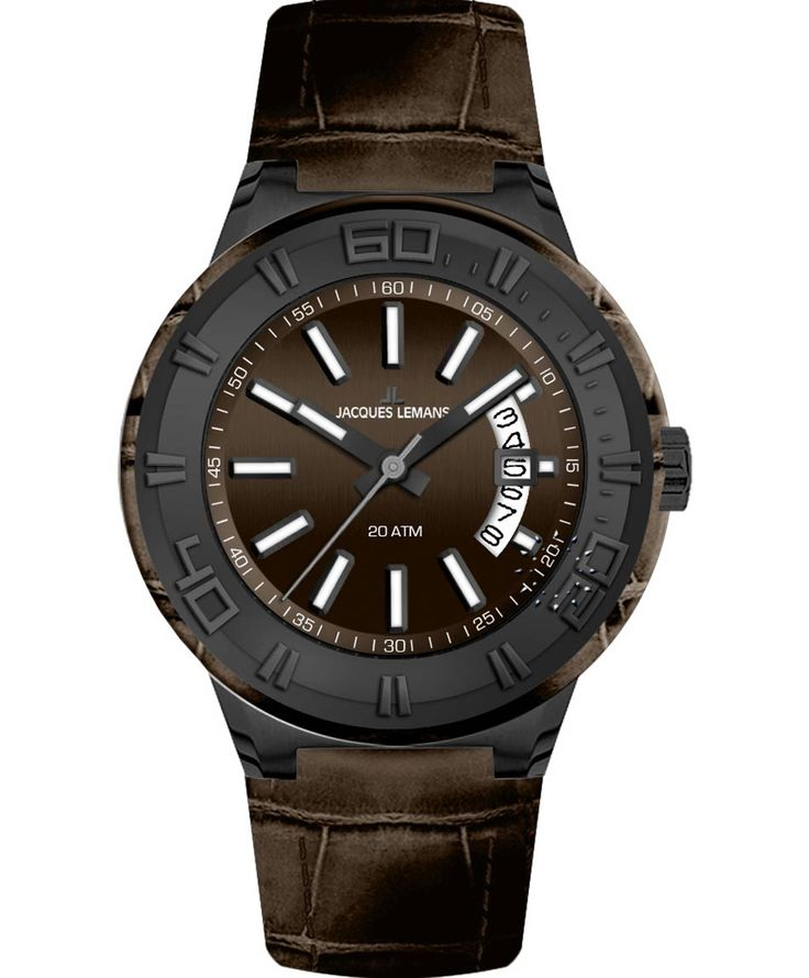 Jacques LEMANS Miami Sport Brown Leather Strap Μοντέλο: 1-1770K Η τιμή μας: 134€ http://www.oroloi.gr/product_info.php?products_id=33852