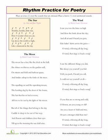 Rhythm poetry essay