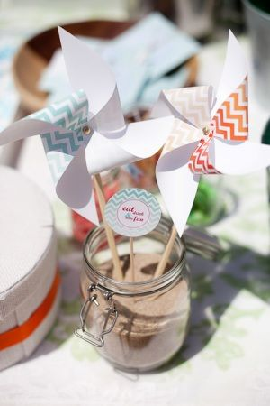 Chic Up Your Party, beach party, children's party design, pinwheels, printables