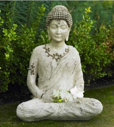 Enlightened Buddha Outdoor Statue - VivaTerra - via http://bit.ly/epinner