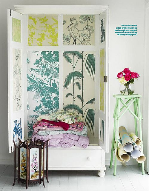 diy: decorated cupboard by the style files, via Flickr