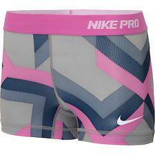Nike Pro Shorts Women | ... Pink Grey Printed S NIKE PRO core II Women's Compression Shorts Small