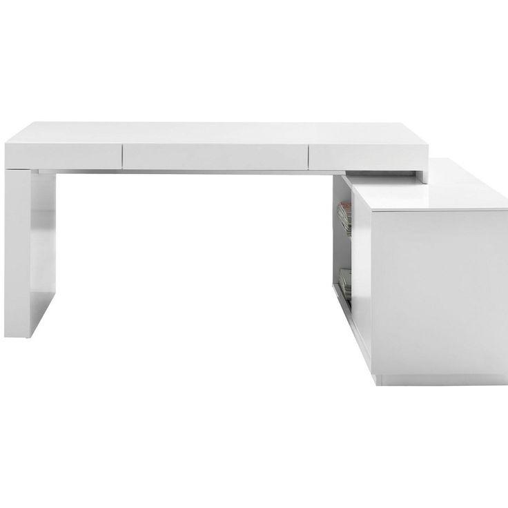 ... White L Shaped Office Desk