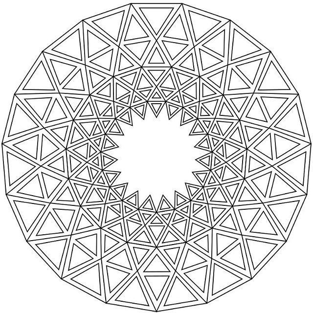 Free Mandala Coloring Pages Mandala Coloring Photos Et Videos Instagram Mandala Coloring Pages Coloring Pages Geometric Drawing