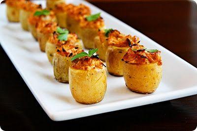 Artichoke Baked Potato Bites - great finger food.