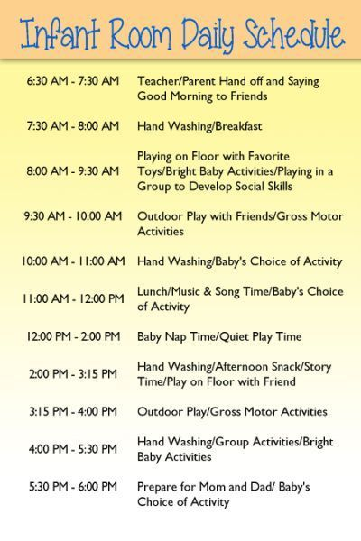 Image result for child care schedule for toddlers