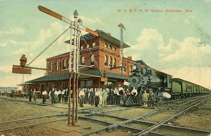 MK&T Railroad Depot at McAlester, Oklahoma