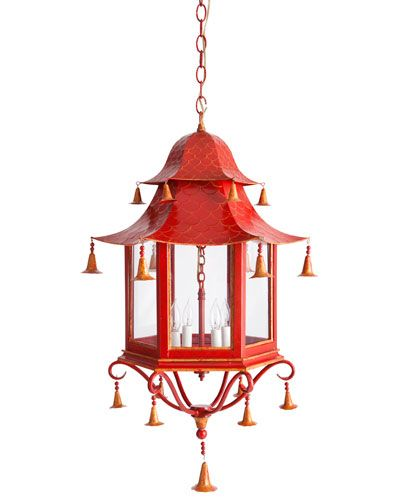 Two World Arts Light Fixture - Do you like to keep up with the latest trend? Add bright colors and Asian motifs to your home's decor!