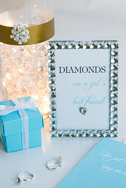 He Put a Ring on It. Bling-themed bridal shower printables. #DavidTuteraDIY