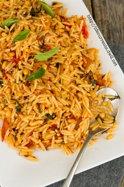 Orzo Pasta with Balsamic Tomatoes and Basil  |  Life Currents
