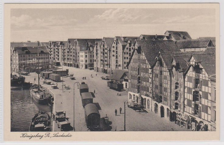 Königsberg Pr.      Lastadie mit Frachtbahn  1941