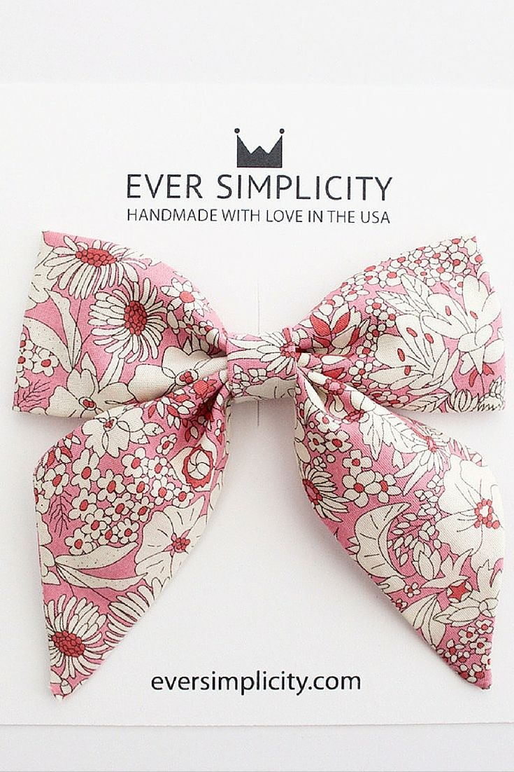 Beautiful Liberty of London Flower Sailor Bow. Handmade with love and care in sunny California for little girls. +See more styles [eversimplicity.com/collections/hair]