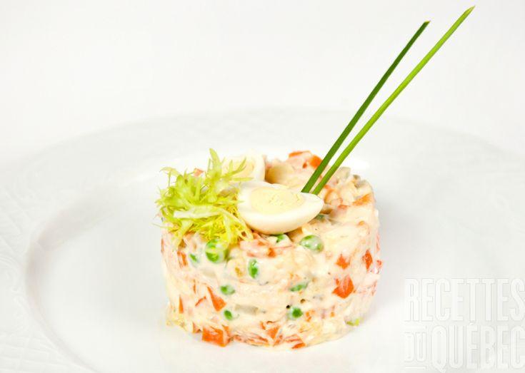 Tartare de saumon fumé et de pétoncles #recettesduqc #entree #ete