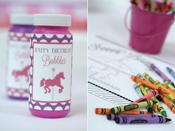 Pink and Purple Carousel Birthday Party Supplies Ideas Cake Planning