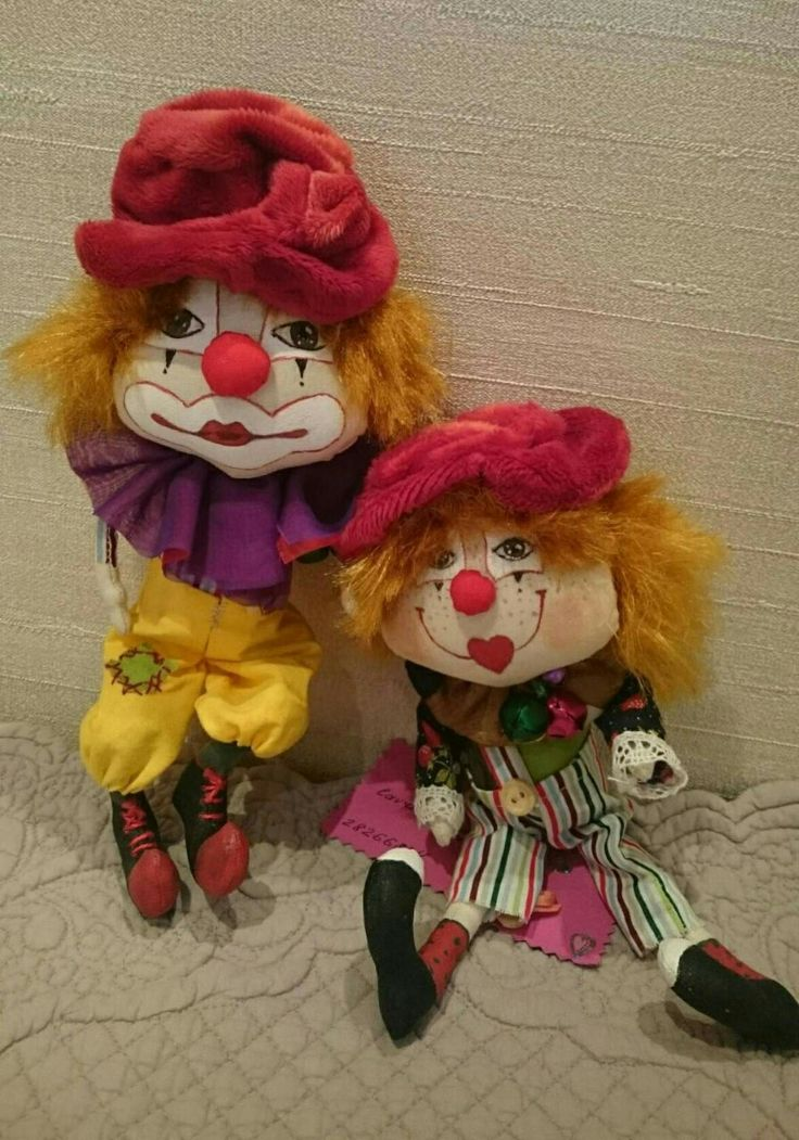 Авторская работа Текстильные клоуны