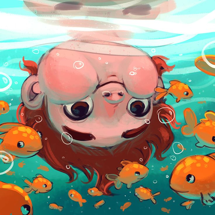 Underwater :) by Margie Stamenova on ArtStation.