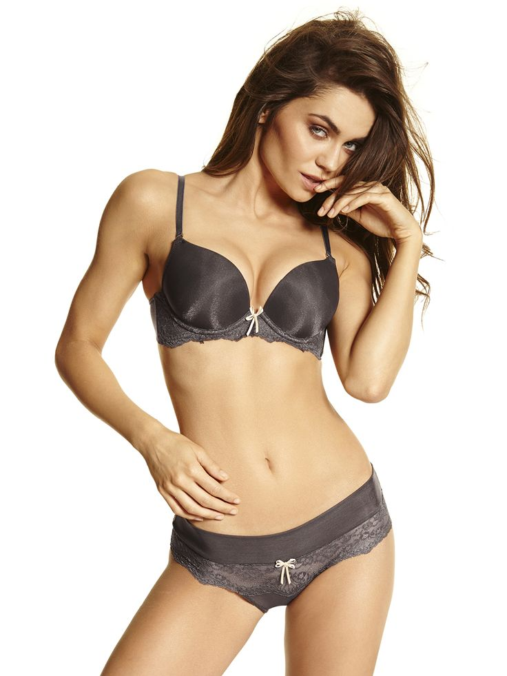 Magic Up Bra Push Up with oil pads #pushupbra #fallcollection #graphite #beige