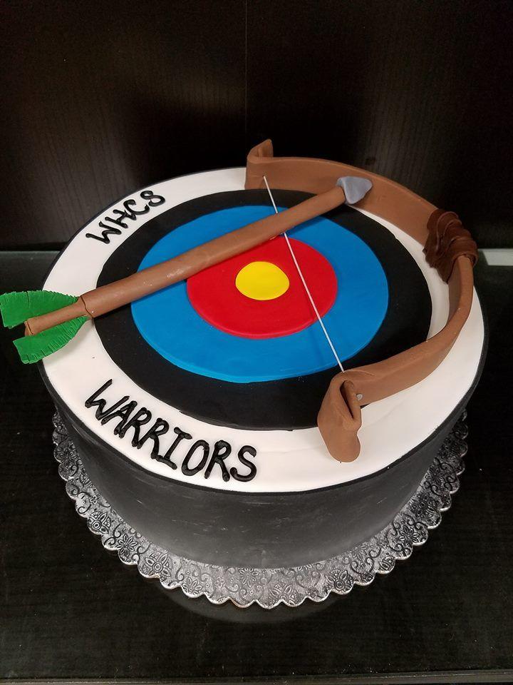 Bow And Arrow Cake With Images Custom Cakes Cake Birthday Cake