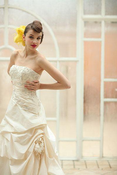 マーメイドドレス・スレンダードレスにオススメの髪型・ポンパドールの参考一覧❤
