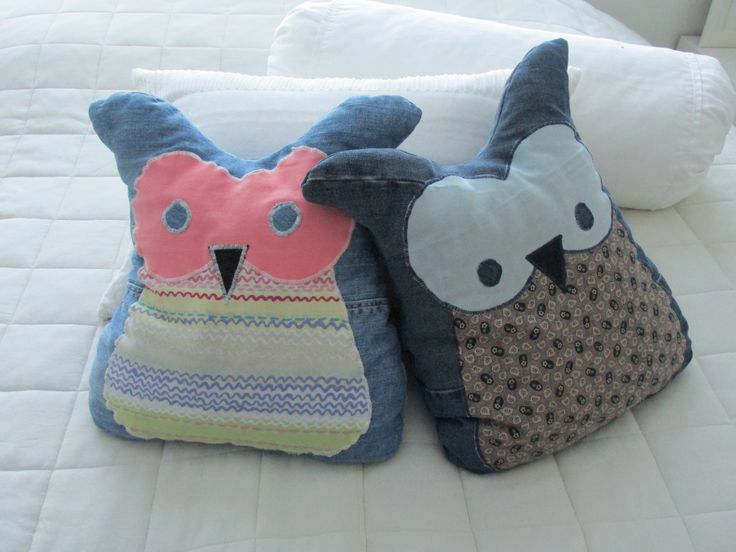 Owl pillow handcrafted