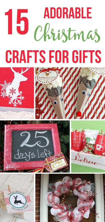 Getting into the Christmas spirit with some fun craft projects? These cute Christmas crafts are sure to make great decor as well as excellent gifts for anyone on your list.