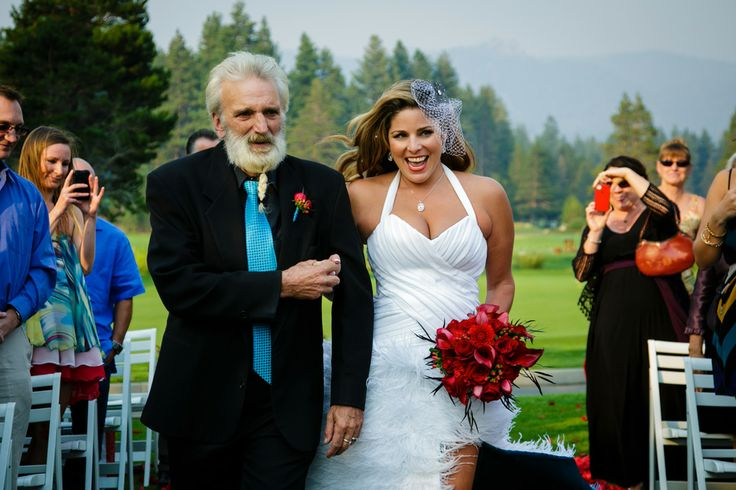 Lake Tahoe Edgewood Wedding by Cloud Nine Event Company, turquoise and red, Chris Werner Photography