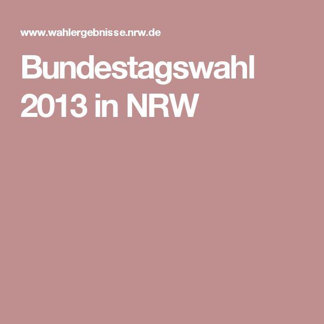 Bundestagswahl 2013 in NRW