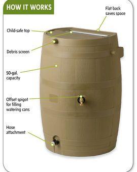 Rain barrel to conserve water