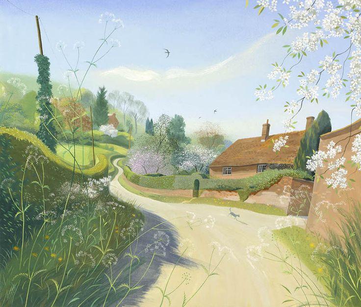 Nicholas Hely Hutchinson (b.1955) — Spring Morning, Wimborne St. Giles (800x681)