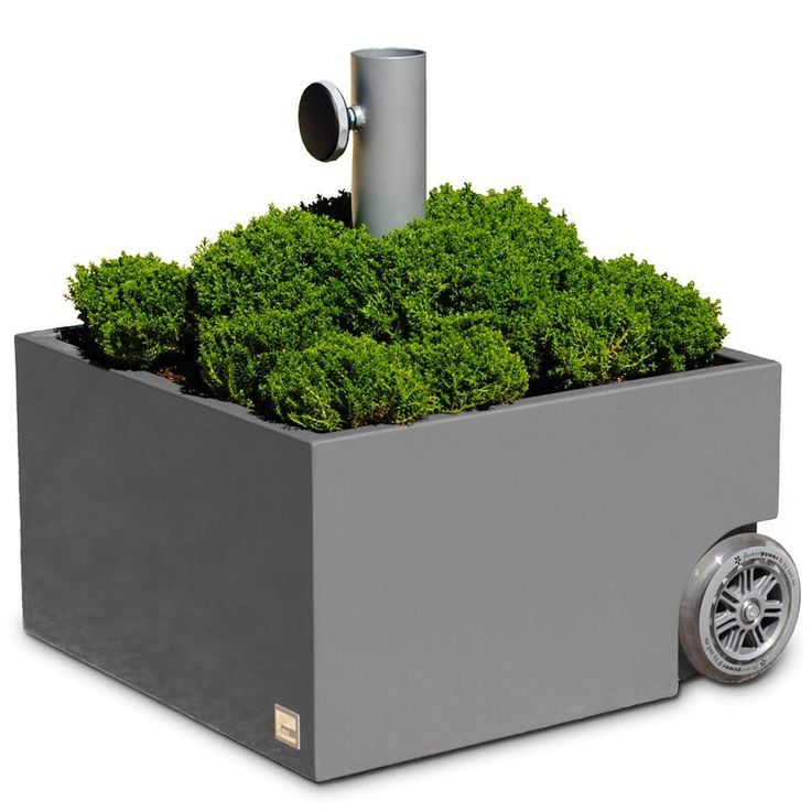 XXD Schirmständer grau mit Rollen Flowerpower o811 Eingang & Garten Gartenmöbel Schirmständer
