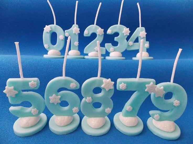 Velas de cumpleaños personalizadas frozen. En porcelana fria