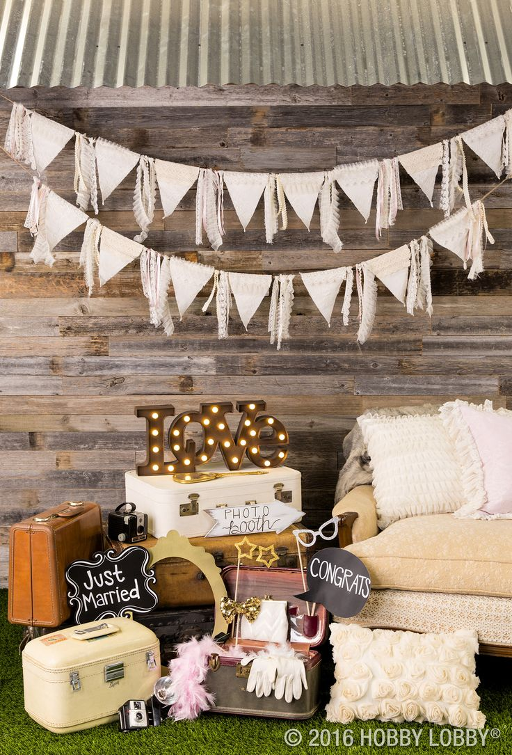 A photo booth CHALK-full of ready-made & DIY props will make memorable party favors for your wedding guests!