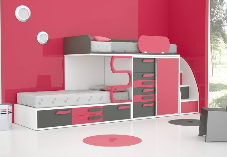 details zu kinderzimmer spielzimmer hochbett jugendzimmer. Black Bedroom Furniture Sets. Home Design Ideas
