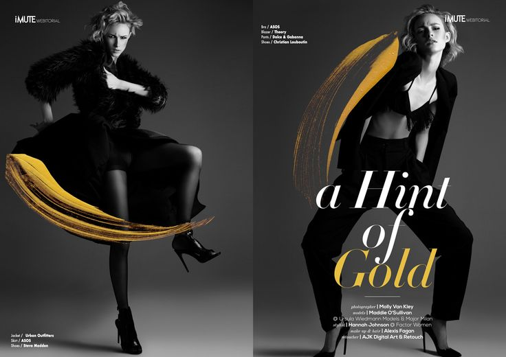A Hint of Gold webitorial for iMute Magazine